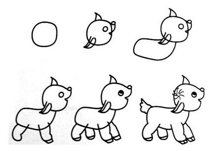 一笔一笔学画画--兔子