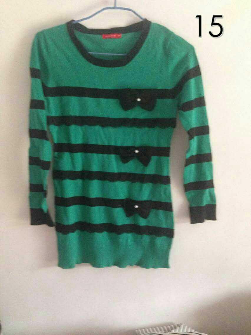 绿色的潮流前线毛衣,第二个全新打底