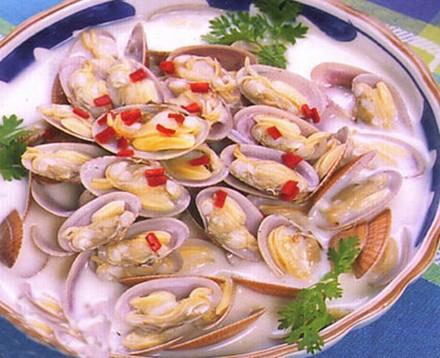 牛奶花蛤汤怀孕第十个月食谱