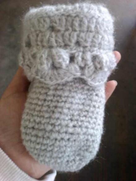 十字绣 手工/给宝宝织的开衫、勾的袜子、鞋子