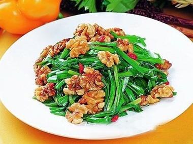 韭菜拌核桃怀孕第四个月食谱