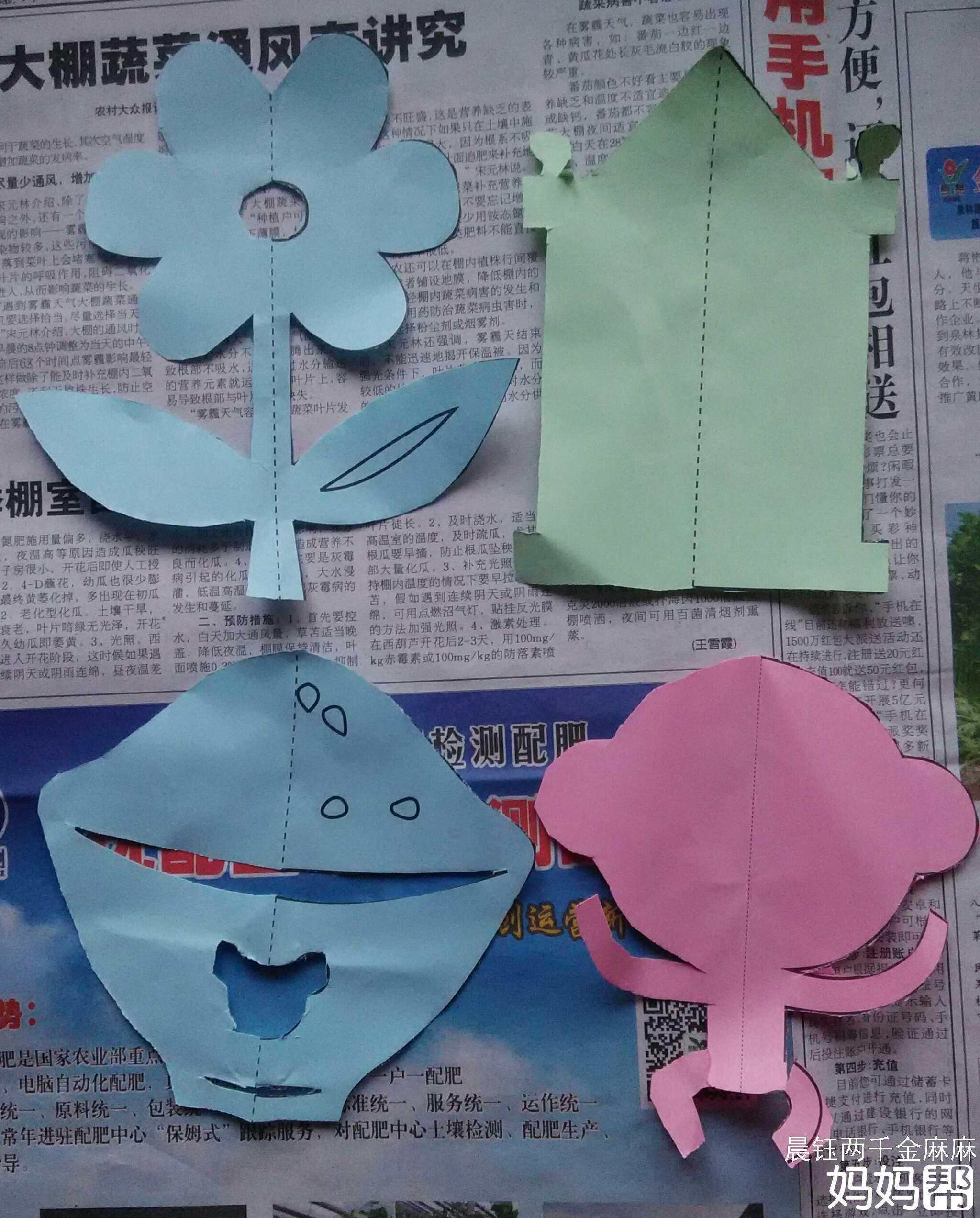 剪纸小花步骤图片