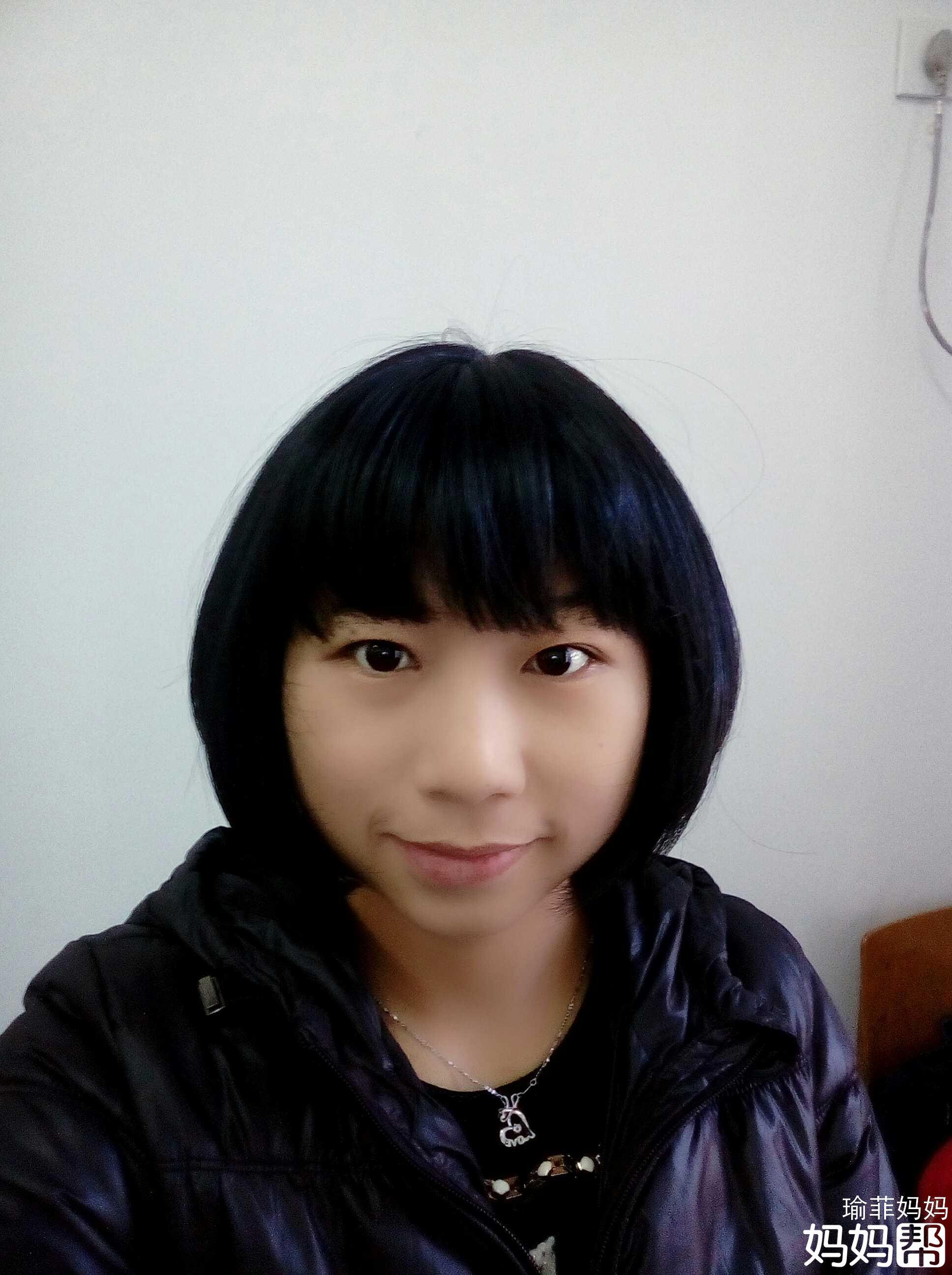 理发师说现在流行不规则的刘海